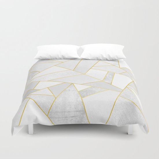 White Stone Duvet Cover