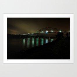 Bourne Bridge in the Evening Art Print