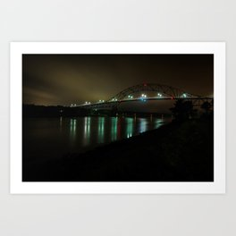Bourne Bridge in the Evening Art Print