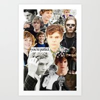 evan peters Art Prints featuring evan peters by CALM OCEANS™