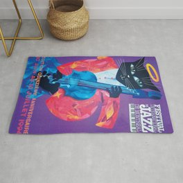 1994 Montreal Jazz Festival Cool Cat Poster No. 1 Gig Advertisement Rug