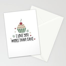 I Love You More Than Cake Stationery Cards
