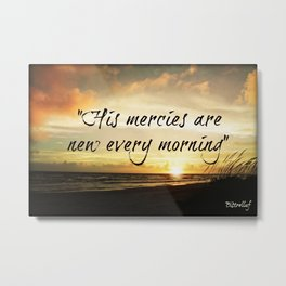 His Mercies Metal Print