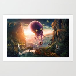 OCTOPUS RIDERS Art Print