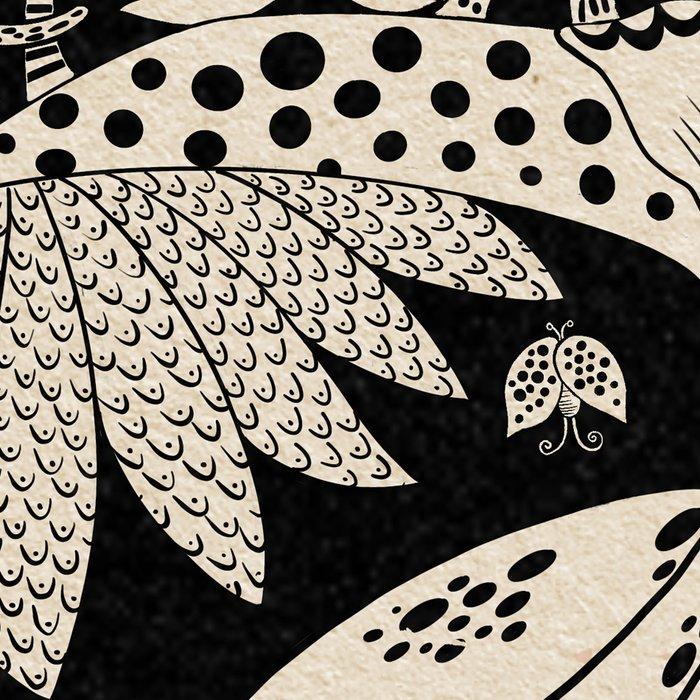 Owl king in black & white Leggings