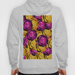 rose pattern texture abstract background in pink and yellow Hoody