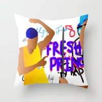 fresh prince Throw Pillows featuring Fresh Prince by Hannah  Aryee