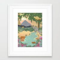 bali Framed Art Prints featuring Bali  by Simoneludeman