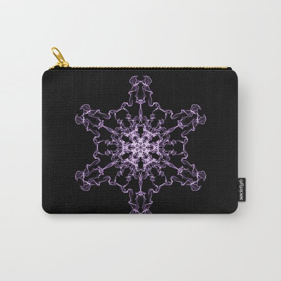 Purple Silk Snowflake Carry-All Pouch