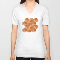 escher V-neck T-shirts featuring Escher #002 by rob art | simple