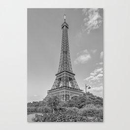 Idyllic Paris view | monochrome Canvas Print