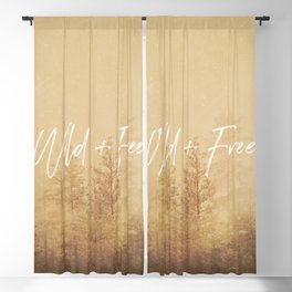 Wild And Free - Cascadia Forest Blackout Curtain
