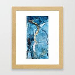 Gold streak Framed Art Print