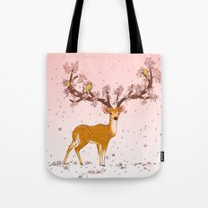 Blooming stag Tote Bag