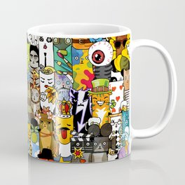 Funny Characters Collage — Culture & Science By Cats Coffee Mug
