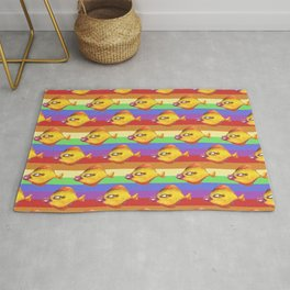 rainbow fish make up Rug