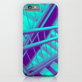 Indecisive, teal iPhone Case