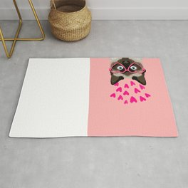 Siamese Cat valentines day gift for cat lady love heart romantic kitten pet friendly present for her Rug