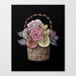 Flower Basket (color) Canvas Print
