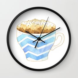 Capuccino Foam Cup Wall Clock