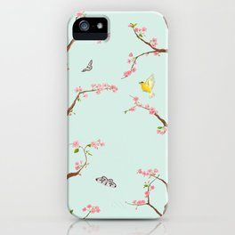 Jenny Chinoiserie on mint iPhone Case