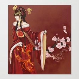 Kimono Blossoms Canvas Print