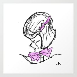 Mumsy's Girl With the Pink Bow Art Print