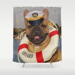 French Bulldog - Ship Ship A-Hoy Shower Curtain