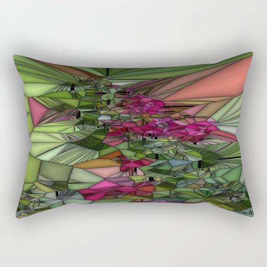 Pink and Green Glass Rectangular Pillow