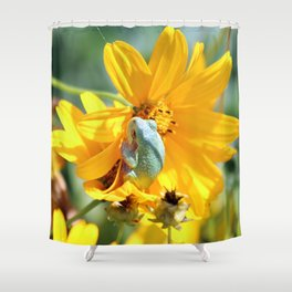 Froggy Floral Shower Curtain