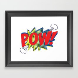 Pow! Framed Art Print