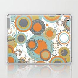 Retro Mid Century Modern Circles Geometric Bubbles Pattern Laptop & iPad Skin
