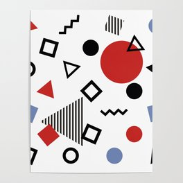 Retro Memphis Design Pattern Poster