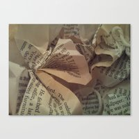 literature Canvas Prints featuring  Literature 2 by Genevieve Moye