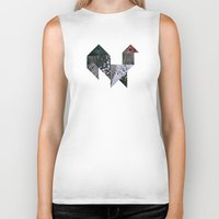 rooster Biker Tanks featuring ROOSTER by TANGRAMMAR
