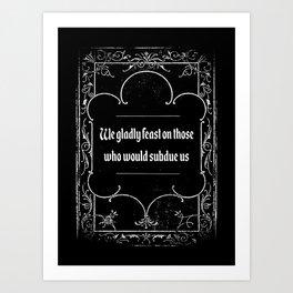 Addams Family Credo Art Print
