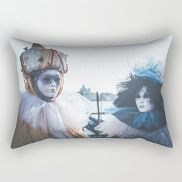 Couple of carnival masks in Venice Rectangular Pillow
