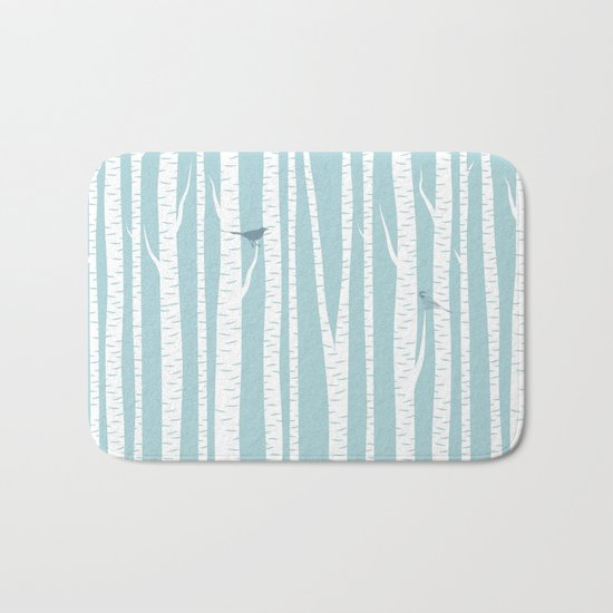 Birch Trees with Bird Bath Mat