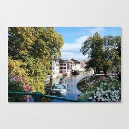 Strasbourg River View Canvas Print