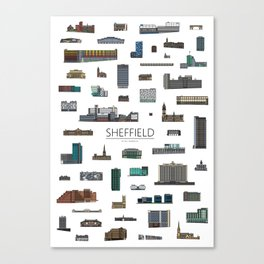 Sheffield Icons Canvas Print