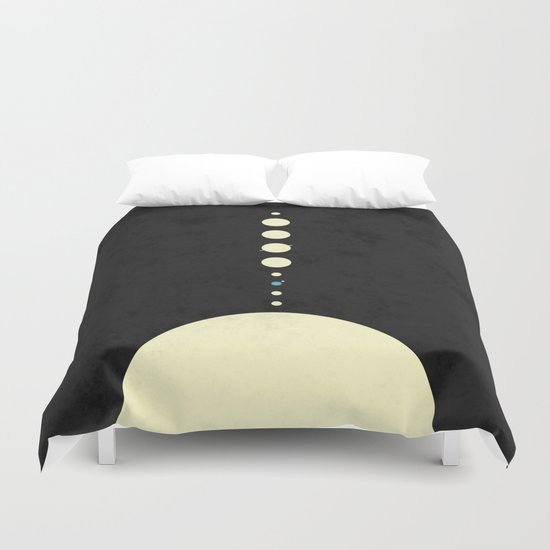 HOME IN THE SOLAR SYSTEM Duvet Cover