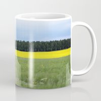 sweden Mugs featuring Sweden by Anya Kubilus