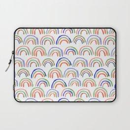 Bowed Pattern - Violet Colorway Handpainted Watercolor Repeat Laptop Sleeve