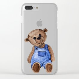 Thoughtful Teddy Clear iPhone Case