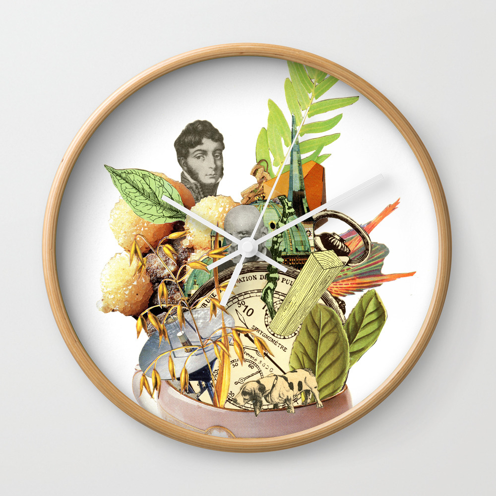 Another Cup Of Alicia's Tea Wall Clock by Martingraphic CLK8401125