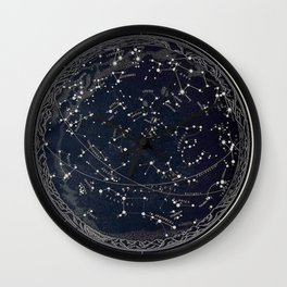 Constellation Chart Wall Clock