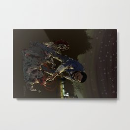 Fighting the undead Metal Print