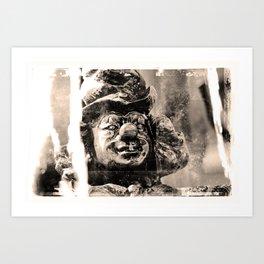 Clownsfigur am Sarasanibrunnen in Dresden Art Print