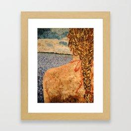 Starfish Girl Framed Art Print