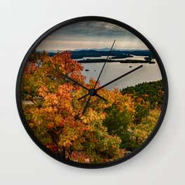 Autumn colors in New Hampshire Wall Clock